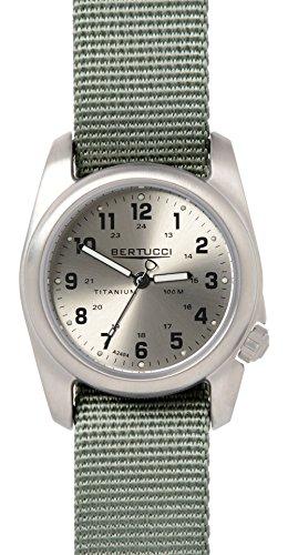 Bertucci a-2t 12111uomo verde Full Body, nylon Band argento al quarzo, quadrante