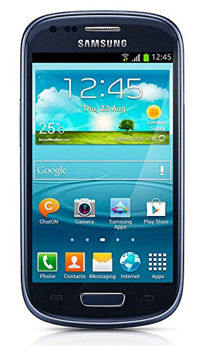 Samsung Galaxy S3 mini GT-I8200 Smartphone (10,2 cm (4 Zoll) Touchscreen, 5 Megapixel Kamera, 8GB Speicher, microSDHC-Kartenslot, Android 4.2) - Blau [EU-Version] (Galaxy Kamera S3)
