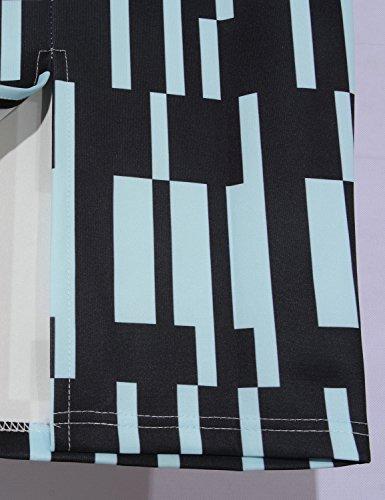Relaxfeel Slim Vintage Pencil Jupes Floral pour lété Plaid Noir