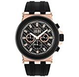 Armbanduhr CERRUTI 1881Silikon Schwarz–Herren–50mm