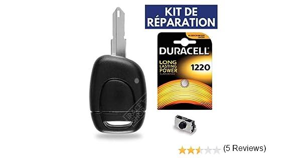 Kit iRace Keys/® Pile CR2016 Philips Coque de Cl/é T/él/écommande Boitier Plip Renault Megane Scenic Espace Laguna Twingo Safrane Clio