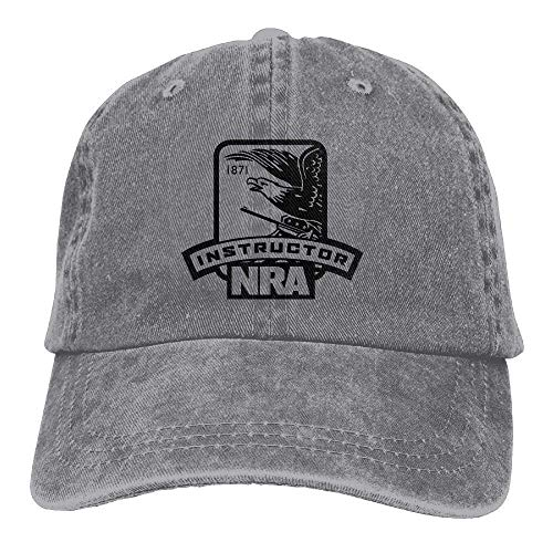 Wfispiy NRA Instructor Adjustable Baseball Caps Denim Hats Cowboy Sport Outdoor X1245 (Gti Cap Hat)