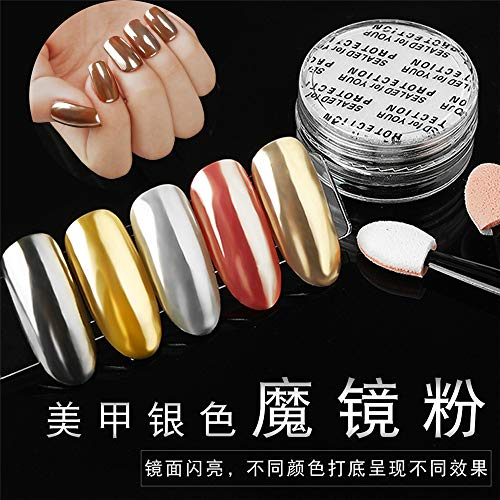 Strasssteine,Nail Metal Glitter Puder Mode Einfache Persönlichkeit Temperament Exquisite Schmuck,...