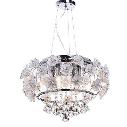6 luce Comtemporary lussureggiante luce lampadario di cristallo, lampada a sospensione in vetro Fiore progettazione soggiorno, sala da pranzo