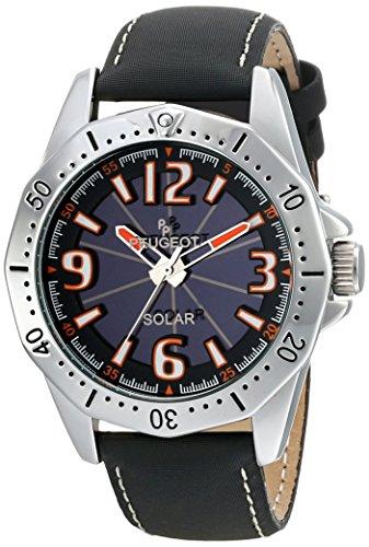 Peugeot Men's 2036 Analog Display Japanese Quartz Black Watch