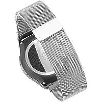 18mm, 20mm, 22mm Cinturini pinhen cinturino maglia milanese in acciaio inox per Huawei LG Withings Activité Samsung Moto 360Smart Watch Bands