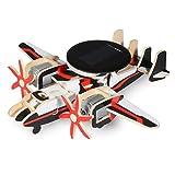 Lychee 3D Assemblea legno Puzzle Kit solare Energia Aircraft Aereo di legno per adulti e bambini (P340S)