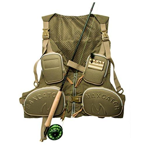 Andux multifunzionale Fly Fishing Vest all'aperto Vest multi-tasca ad asciugatura rapida Mesh Vest DYMJY-01