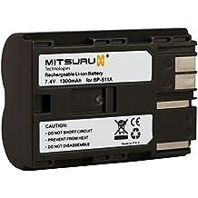 Mitsuru® batería para Canon BP-511 BP-511A BP511 BP511A recambio para Canon EOS 10D 20D 20Da 300D 30D 40D 50D 5D D30 D60