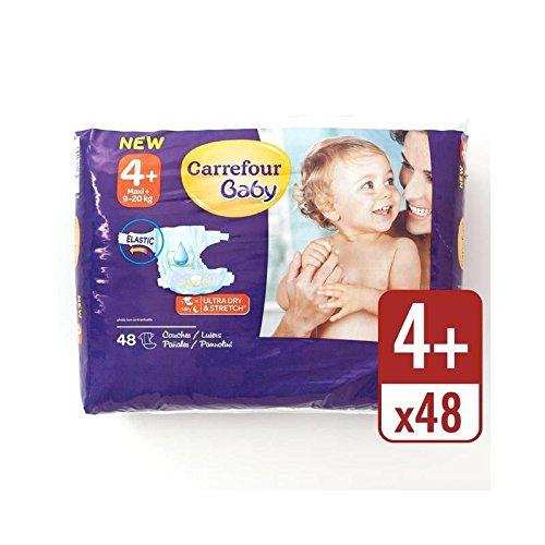 Carrefour Bebé Ultra Tamaño Seca 4+ Pañales Paquete Esencial 48 Por Paquete - Paquete de 2