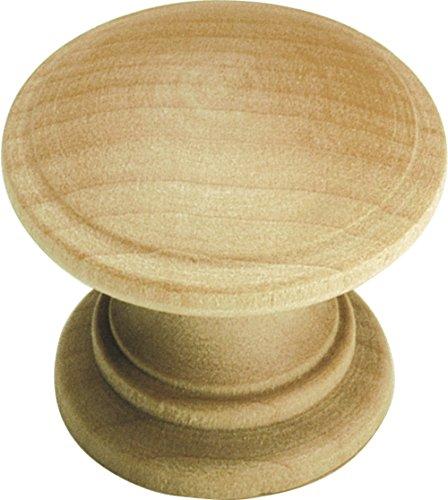 Hickory Hardware p685-uw 1–1/4-Zoll Natur Woodcraft unlackiert Holz Schrank Knauf, uned Holz (Unfinished Eine Schublade)