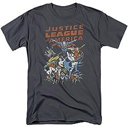Liga de la justicia gran grupo camiseta de manga corta para hombre