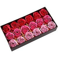 [Patrocinado]Beauty7 Caja de 18 Jabon de Baño Petalos Rosa Perfumado Fragancias de Color Rosa para los Navidades Regalos Boda Cumpleaños Novia