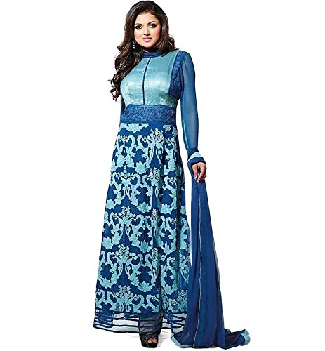 Kalashree-Fashion-Blue-Colored-Georgette-Embroidered-Semistitched-Suit