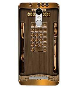 ColourCraft Vintage Calculator Design Back Case Cover for XIAOMI REDMI NOTE 3
