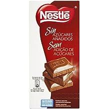 NESTLÉS SIN AZÚCARES AÑADIDOS Chocolate con Leche - Tableta ...
