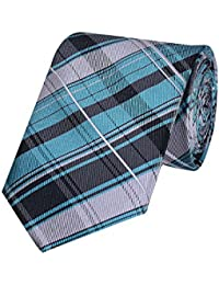 Tiekart Blue Checks Micro Fiber Necktie for Men