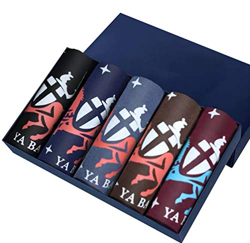 Asdasd Herren Unterhosen, Atmungsaktiv Männer Unterwäsche,Herren Unterwäsche Unterhosen Männer Retroshorts - Herren Boxershorts Ideale Passform Durch - 5 Packungen,5,XL -