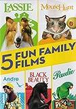5 Fun Family Films (Lassie / MouseHunt / Andre / Black Beauty / Paulie)