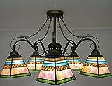 """WEITING 30"""" pollici 5 testa soggiorno decorazione Lanterna lampadari appesi luci piramide stile colorato occhiali lampada"""