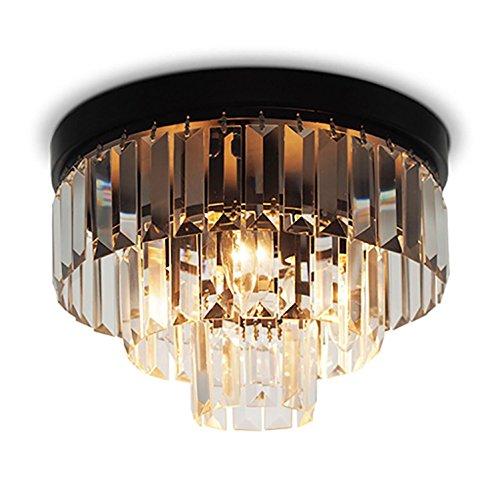 AMZH Runde Kristall Deckenleuchte Restaurant Licht American Schlafzimmer Licht Kreative Kuchen Kristall Deckenleuchte Durchmesser 30cm E14
