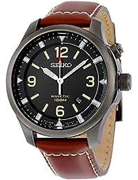 Seiko Kinetic para hombre-reloj analógico de cuarzo cuero SKA691P1 480e81550aa2