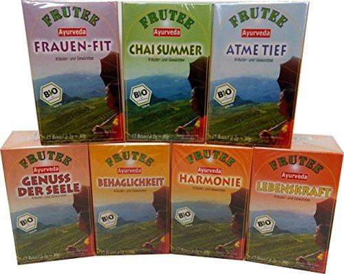 Bio- Ayurveda Frühjahrs-Kur Tee 7 Sorten 105 Btl. à 2g plus Tasse (frachtfreie Lieferung innerhalb Deutschlands ab 20 EUR Einkaufswert)