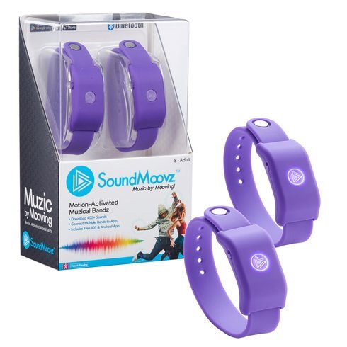 Soundmoovz Wearable Motion-Activated Musical Bands and App- Purple