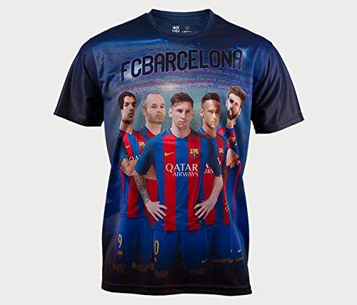 Camiseta FC BARCELONA MODELO FIRMA-17 JR TALLAS10-12-14