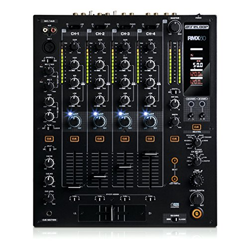 Reloop RMX-60 5channels 20 - 20000Hz Black audio mixer - audio mixers (5 channels, 20 - 20000 Hz, 320 mm, 386.7 mm, 107.5 mm, 6.8 kg)