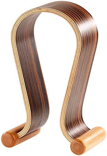 auvisio Kopfhörerständer: Eleganter Kopfhörer-Ständer aus Echtholz in dunkler Nussbaum-Optik (Kopfhörerhalterung)