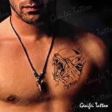 Zokey impermeable tatuaje temporal lobo monocromo emulación bestia GFWS264