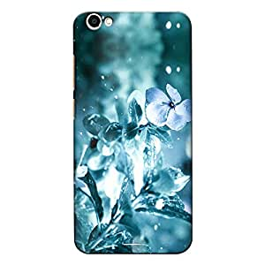 DASM United Vivo V5 Premium Back Case Cover - Frozen Flower