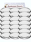 25er Set Ersatzdeckel Twist-Off-Deckel für Sturzgläser To 82 Deckelfarbe Silber Sturzglas passend für 230, 350, 435, 540, 565 ml Einmachgläser Einkochgläser