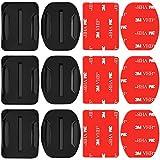 Neewer Paquete de 3 Monturas Adhesivas con Almohadillas Adhesivas para Cámaras GoPro, Monturas Plano Y Curva Adhesivas para Gopro Hero 6 5 4 3+ 3 2 1 Hero Session 5 Black SJ4000 5000 6000 y más