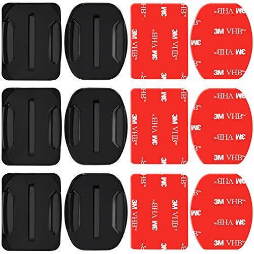 Nota: el casco no está incluido.    Descripción:    Pack de 3 montajes adhesivos están diseñados para conectar su GoPro a cualquier casco, kayak, capó del coche, tabla de surf.    Los montajes adhesivos impermeables de la fuerza industrial se pued...