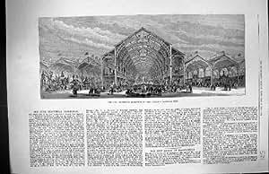 Architecture 1883 Intérieure de Vue Sectionnelle de Liège d'Exposition Industrielle de l'Irlande