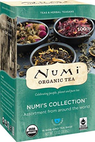 Numi Organic Tea Variety Pack - Numi's Collection, Assorted Full Leaf Tea and Teasan, 16 Count Tea Bags