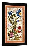 Gerahmtes Bild von AKG Anonymous Blumen/Dara Schikoh Album/ind./1633-42, Kunstdruck im hochwertigen handgefertigten Bilder-Rahmen, 40x60 cm, Schwarz matt
