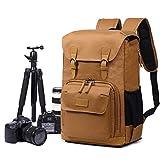 EverVanz Multifonctionnel caméra Sac à Dos Toile imperméable Photographie matériel de Voyage Sac pour trépied, DSLR Canon Nikon Sony