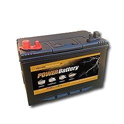 Battery – Batteria a scarica lenta, per camper, auto o barca, 12 V, 120 ah, 330 x 172 x 242 mm