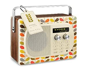 Pure Evoke Mio Orla Kiely Tragbares Radio (DAB/DAB+/UKW-Radio, 7 Watt RMS) bunt