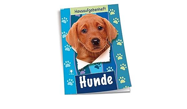 """/""""Hunde/"""" DIN A5 Hausaufgabenheft für Schlaue 48 Blatt"""
