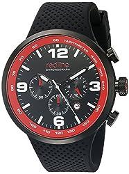 red line Mens RL-50057-BB-01 Apex 12 Analog Display Japanese Quartz Black Watch