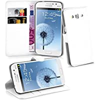 Cadorabo - Funda Samsung Galaxy GRAND 2 (G7100 / G7102) Book Style de Cuero Sintético en Diseño Libro - Etui Case Cover Carcasa Caja Protección (con función de suporte y tarjetero) en BLANCO-ÁRTICO