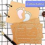 Aparty4u 40 Stück Elefanten-Babyparty-Ratschläge & Vorhersagungskarten, Kraftpapier, Baby-Wunschkarten mit Fußabdruck-Abdeckung für Babyparty-Spiele Willkommen in der Welt