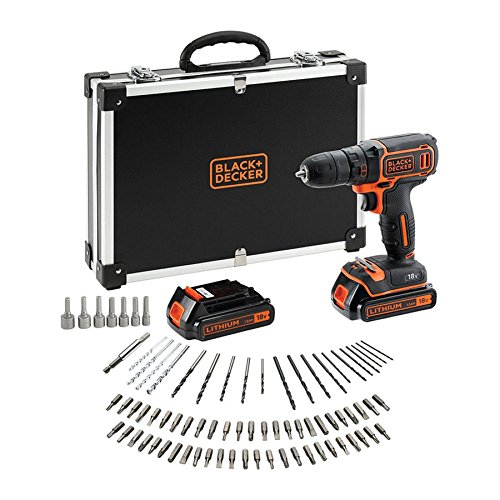 BLACK+DECKER BDCDC18BAFC-QW Perceuse visseuse sans fil - 18V - 1,5 Ah - 2 batteries - Chargeur...