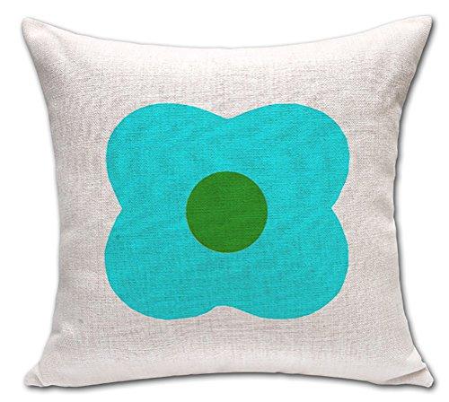 Semplice floreale foglie stampato cuscino in cotone lino throw Pillow case Sham forma Pillowslip Slipover (4 Pezzo Stampato Inserire)
