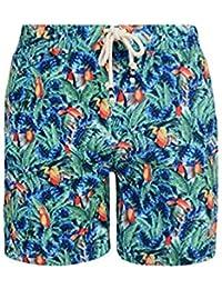 Tokyo Laundry Mens Photo All Over Tropical Print Casual Summer Swim Swimming Shorts. Kuakata 1S5883.