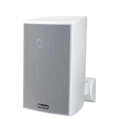 Magnat Symbol Pro 130 I Multifunktionale Musikbox mit Bassreflexgehäuse I 1 Paar 2-Wege-Lautsprecher für Regal- und Wandmontage – Weiß